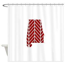 Alabama Chevron Shower Curtain