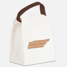 Tennessee Chevron Canvas Lunch Bag