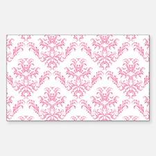 Pink Damask Pattern Decal
