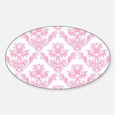 Pink Damask Pattern Bumper Stickers