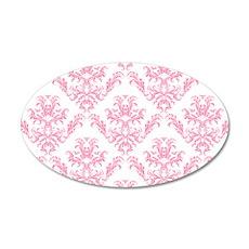 Pink Damask Pattern Wall Sticker