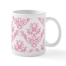 Pink Damask Pattern Mugs
