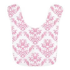 Pink Damask Pattern Bib