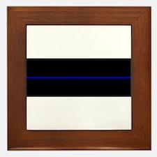 Funny The thin blue line Framed Tile