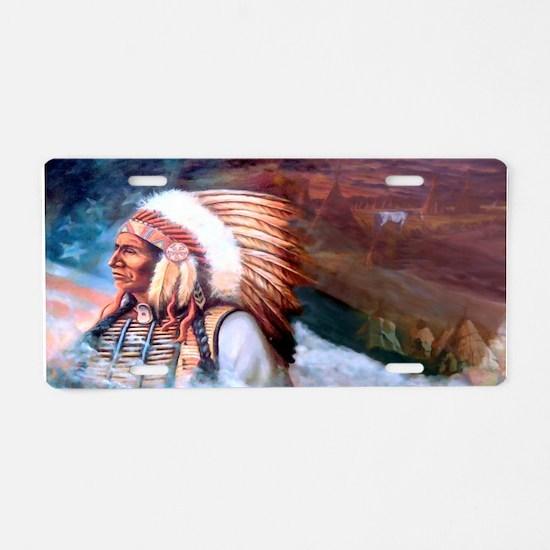 Star Chief Aluminum License Plate