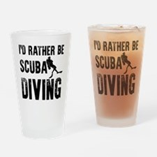 I'd Rather Be SCUBA Diving Drinking Glass