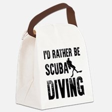 I'd Rather Be SCUBA Diving Canvas Lunch Bag