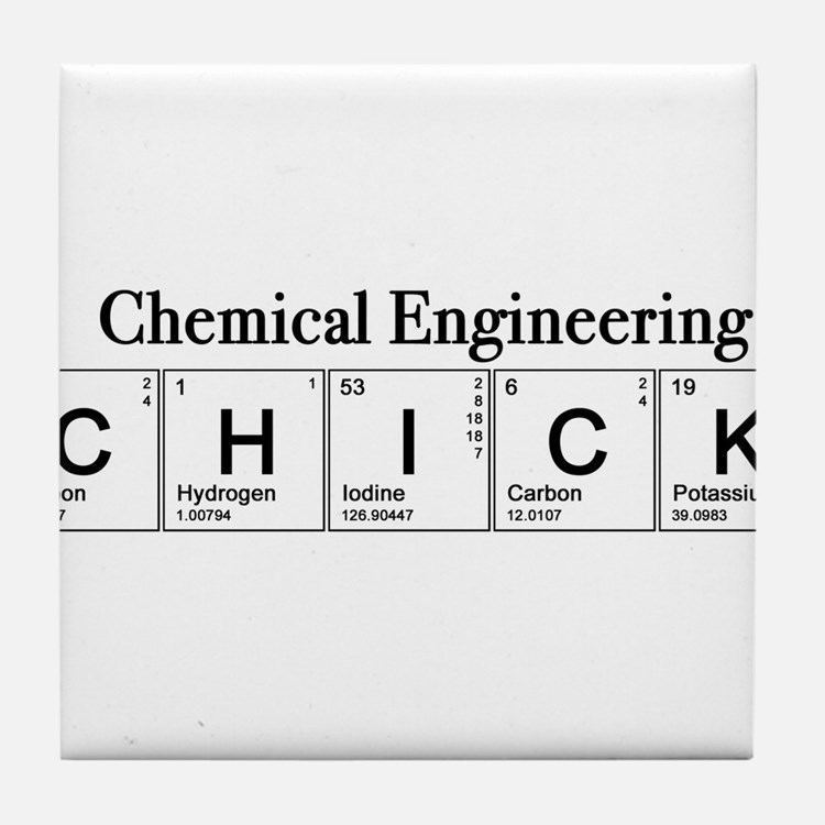 Chemical Engineering Chick Tile Coaster
