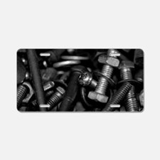 Nuts and Bolts Aluminum License Plate