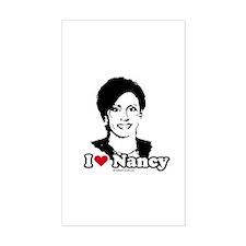 I Love Nancy Pelosi Rectangle Decal