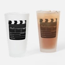 Clapperboard for movie making Drinking Glass