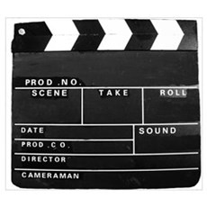 Clapperboard for movie making Framed Print