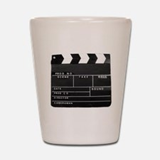 Clapperboard for movie making Shot Glass
