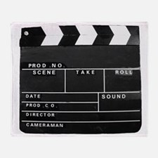 Clapperboard for movie making Throw Blanket
