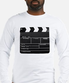 Clapperboard for movie making Long Sleeve T-Shirt
