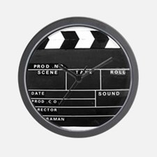 Clapperboard for movie making Wall Clock