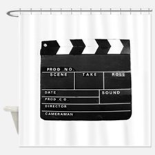 Clapperboard for movie making Shower Curtain