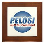 Pelosi for President Framed Tile