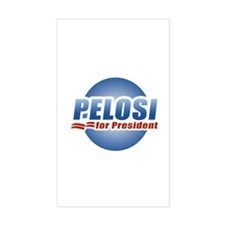 Pelosi for President Rectangle Decal