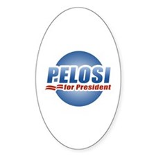 Pelosi for President Oval Decal