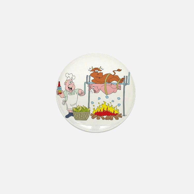 Barbecue Mini Button (10 pack)