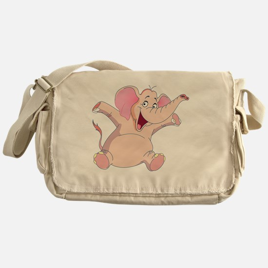 pink elephant Messenger Bag