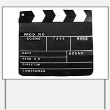 Clapperboard for movie making Yard Sign