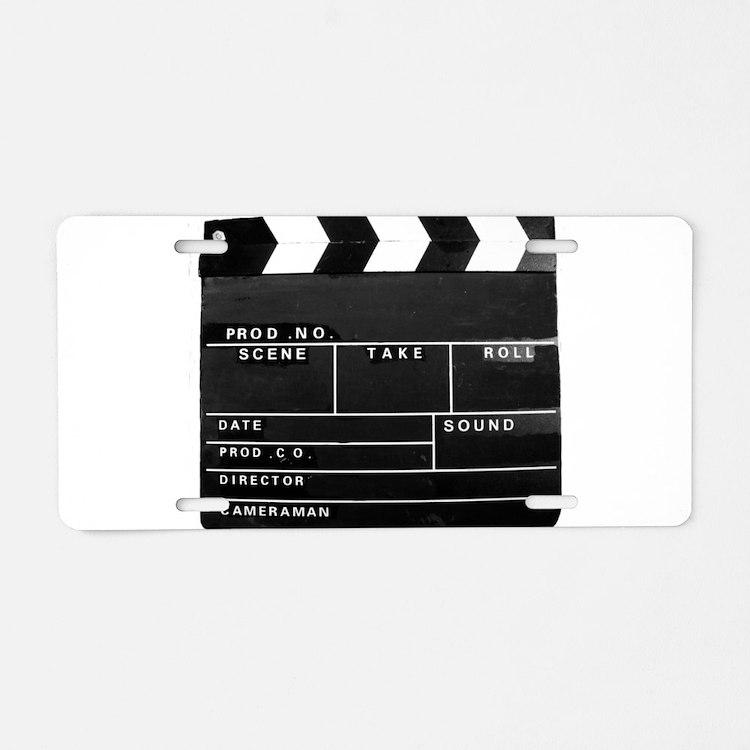 Clapperboard for movie maki Aluminum License Plate