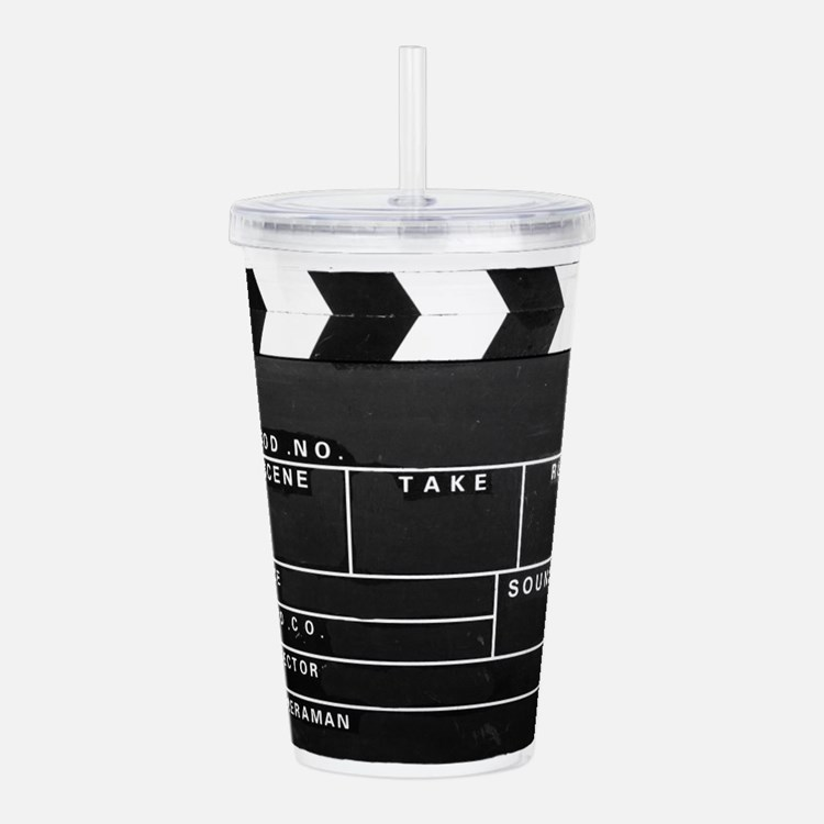 Clapperboard for movie Acrylic Double-wall Tumbler