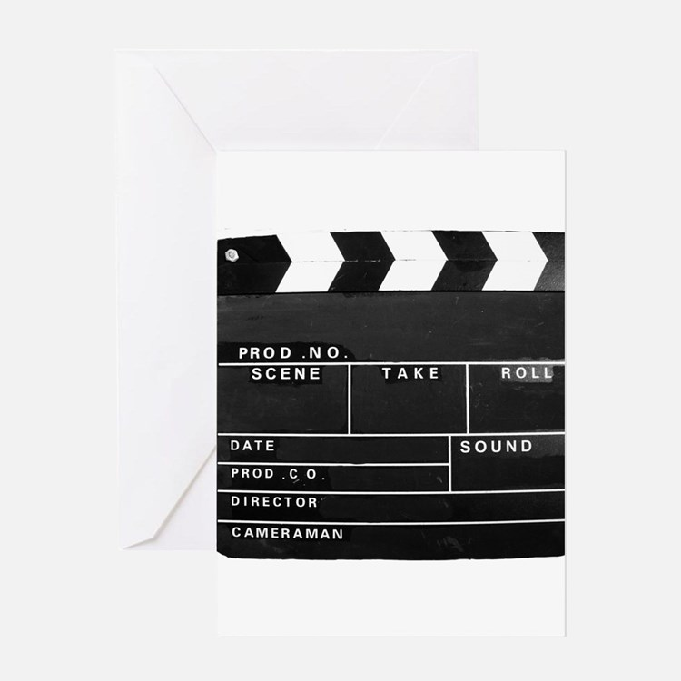 Clapperboard for movie making Greeting Cards