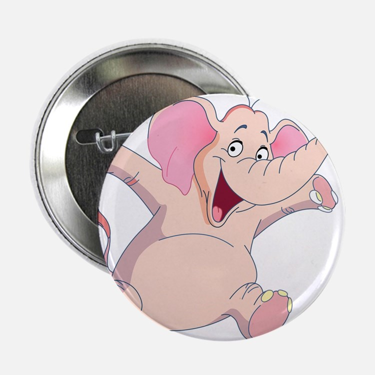 """pink elephant 2.25"""" Button (10 pack)"""