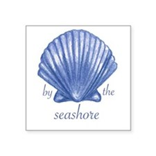 """By the Seashore Square Sticker 3"""" x 3"""""""