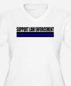 Support Law Enforcement Plus Size T-Shirt
