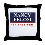 Nancy Pelosi for President Throw Pillow
