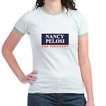 Nancy Pelosi for President Jr. Ringer T-Shirt