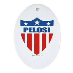 Nancy Pelosi Oval Ornament
