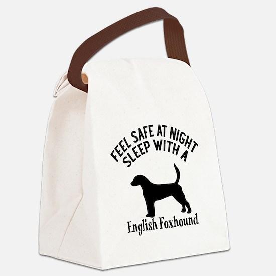 Sleep With English Foxhound Dog D Canvas Lunch Bag