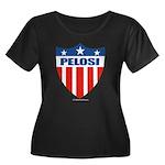 Nancy Pelosi Women's Plus Size Scoop Neck Dark T-S
