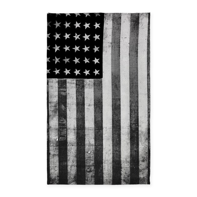 American Vintage Flag Black And White Area Rug By Listing
