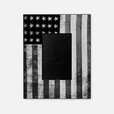 American Vintage Flag Black and Whit Picture Frame
