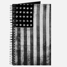 American Vintage Flag Black and White Journal
