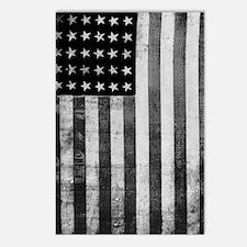 American Vintage Flag Bla Postcards (Package of 8)