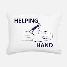 Hand up Rectangular Canvas Pillow