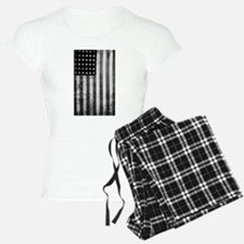 American Vintage Flag Black Pajamas