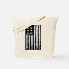 American Vintage Flag Black and White Tote Bag