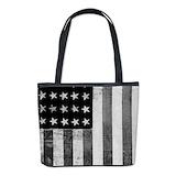 Vintage american flag Bucket Bags