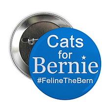 "Cats For Bernie 2.25"" Button"