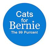 Bernie sanders for president Round Car Magnets