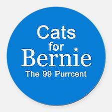 Cats For Bernie Round Car Magnet
