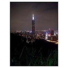 Taipei Skyline Poster